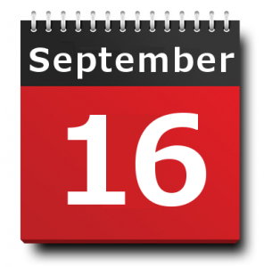16 September 2016